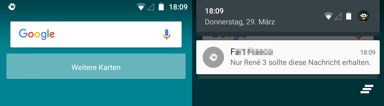Push Notification einer Unity-App mit eigenem Symbol.